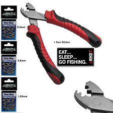 300 Fishing Leader Crimps diff. sz + Crimping Pliers Tool Sleeves  Bundle Set
