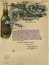 1912 Walter Brewing Co. Pueblo Colorado Letterhead Hrubesky Pierce brewery Beer