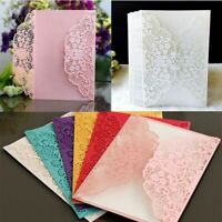 Lace Hollow Invitation Cards Luxury Wedding Greeting Card Party Supplies 100pcs