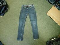 "Denim Co Skinny Jeans Size 10 Leg 27"" Faded Dark Blue Ladies Jeans"