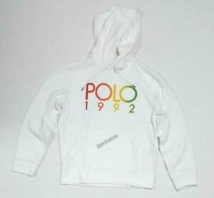 Polo Ralph Lauren Men's Logo Fleece Hoodie, White, Size  L    1992