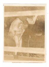 "Jim Browning Jim McMillen vintage 1934 wrestling press photo 6""x8"" press snipe"
