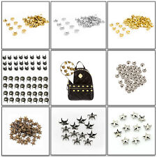 50-100pcs Nail Head Studs Punk Rivets with Spikes in 10, 15, 20mm Leather Craft