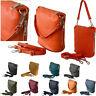 Vera Pelle Genuine Italian Leather Small Cross Body Bag Little Shoulder Handbag
