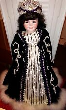 "1983 ""Dreamer"" Porcelain 27"" Artist Made ROMANS Doll w/ Gown, Stand- OOAK- RARE"