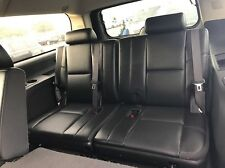 YUKON ESCALADE TAHOE SUBURBAN  3RD ROW SEATS BLACK PERFORATED LEATHER 2007-2014