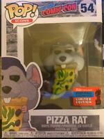 FUNKO POP NYCC 2020 PIZZA RAT WITH BLUE HAT FREE SHIPPING