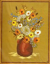 "Vintage Sunset ""Garden Bouquet"" Flowers Crewel Embroidery Kit"