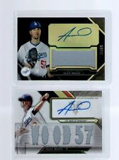 Lot of 2 Los Angeles Dodgers Alex Wood Autograph Jersey #02/10 Baseball Card