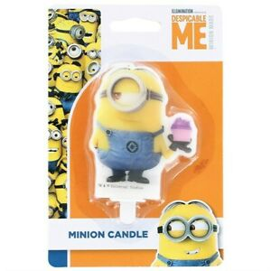 Despicable Me - Minions LARGE Candle NOVELTY BIRTHDAY PARTY CAKE Boy Girl Party