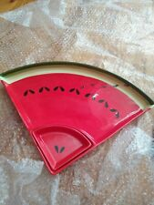 Watermelon serving Tray, plate, ceramic, nwt, two pieces, by dejah Moore