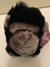NWT Puffkins '' MAX '' the GORILLA Beanbag Plush Animal Zoo Swibco  1997