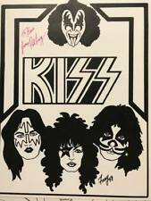 1978 Kiss Paper Dolls Pat Frey Limited Edition Artist signed & inscribed Htf
