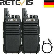 2XRetevis RT622 WalkieTalkie Superdünn 16 Kanäle UHF Funkgerät CTCSS/DCS VOX+USB