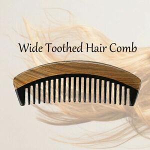 Natural Sandalwood+Ox Horn No Static Pocket Hair Beard Mustache Comb Beard Brush
