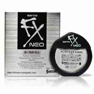Santen Sante FX Neo Cool Eye Drops Made in Japan Japanese Eyedrops 12ml NEW HOT