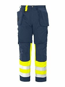 Projob Hi Vis Work Trousers with Knee Pad & Holster Pockets Class 1 - 646502