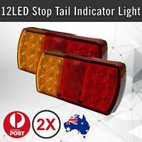 2 x 12 LED Trailer Lights Tail Stop Indicator Lamp Truck Trailer 12V