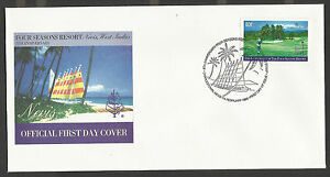 NEVIS 1996 GOLF COURSE 1v Single  FDC