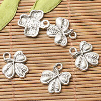 30pcs lot dark silver color leaf design charms  EF2638