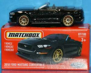 Matchbox 2018 FORD MUSTANG CONVERTIBLE Mint in Box