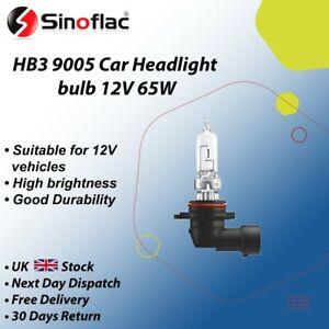 2 x HB3 [9005] 65w Clear Headlight Bulbs 12v P20D Halogen
