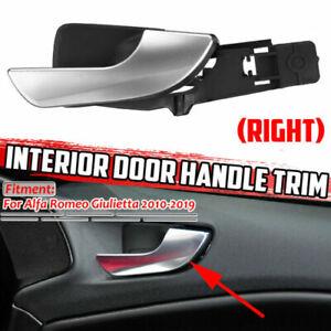 Right Side Interior Door Handle Chrome Silver For Alfa Romeo Giulietta 2010-2019