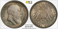 Germany Baden 2 Mark 1907 Death J-36 PCGS MS66+ - Stunning