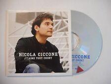 NICOLA CICCONE : J'TAIME TOUT COURT ▓ CD SINGLE PORT GRATUIT ▓