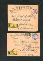 Austria 1901 Registered Covers with Wien, Gablonz, & Sigmundsherberg Cancels