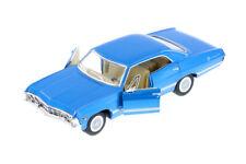 "1:43 Blue 1967 Chevy Impala 5"" Kinsmart Die-cast Car Brand New No Box"