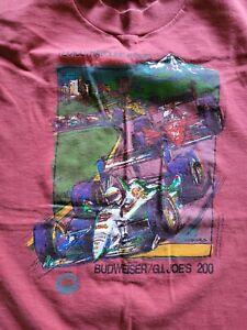 Vintage 1994 Mario Andretti Single Stitch Tee T Shirt Indy Car Racing sz XL RARE