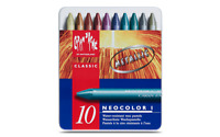 Caran d'Ache NEOCOLOR I Wax Oil Pastel 10 Metallic Colors Water Resistant Creamy