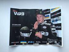 Danny Webb mano firmato 125cc MOTOGP Poster.