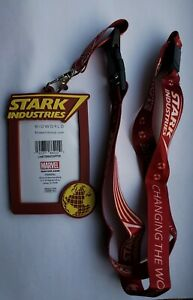 Marvel Stark Industries Lanyard with Breakaway Clip and ID Holder