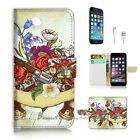 ( For iPhone 7 Plus ) Wallet Case Cover P2562 Gun Flower