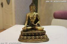 Tiber Buddhism Temple Brass Copper Shakyamuni Tathāgata  RuLai Buddha Statue