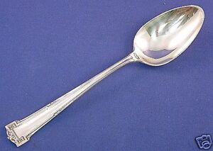 1916 GUMBO SOUP SPOON-7 Inch-Mono DAL Wallace Sterling DAUPHINE