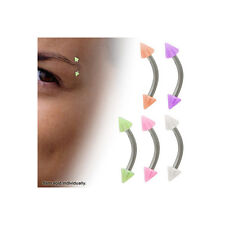 Eyebrow Ring Spike Acrylic Curved Barbell 5 Colors Available