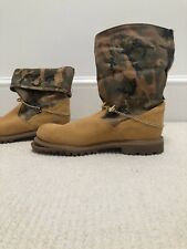 NEW Timberland Ankle Boots With Camouflage Folds Backs  Us 7.5 Uk 5.5