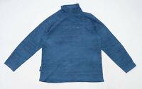 Mountain Warehouse Mens Size M Fleece Striped Blue Jacket