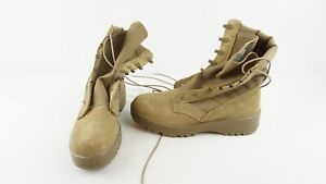 New Army Combat Boots Tan Hot Weather Vibram Soles Size 7.5 R Desert Airsoft