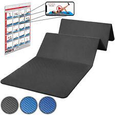 Gymnastikmatte faltbar inkl. Workout 180x 60x1,5cm Blau od. Schwarz I Yogamatte