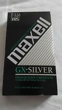 Maxell GX Silver T120 High Quality Blank VHS 6 Hour Tape NEW SEALED