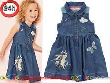 NEXT Jeans Kleid für Mädchen HÄSCHEN 18-24 Monate 92cm