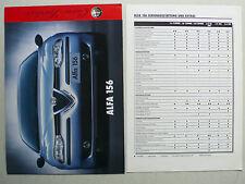 Prospekt Alfa Romeo 156 zur Premiere, 4.1997, 4 Seiten ohne Text + 4 S. Daten