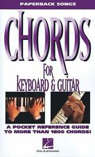 Chords for Keyboard and Guitar Paperback Songs