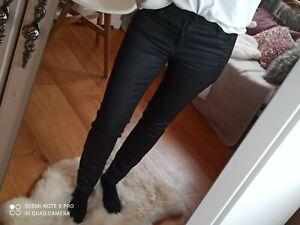 Marc O Polo Skara Jeans coated beschichtet Slim Schwarz High waist 29 38