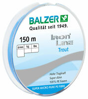 Balzer Iron Line Trout 3 PE Blau 150m 0,04mm 2,8kg Light Blue für Collector NEW