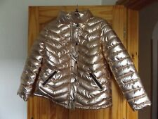 BNWT Tu metallic gold chevron puffa jacket size 16